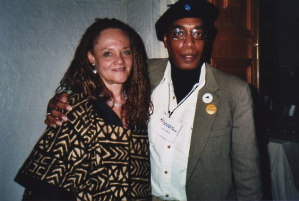 Photo of Larry Pinkney and Kathleen Cleaver