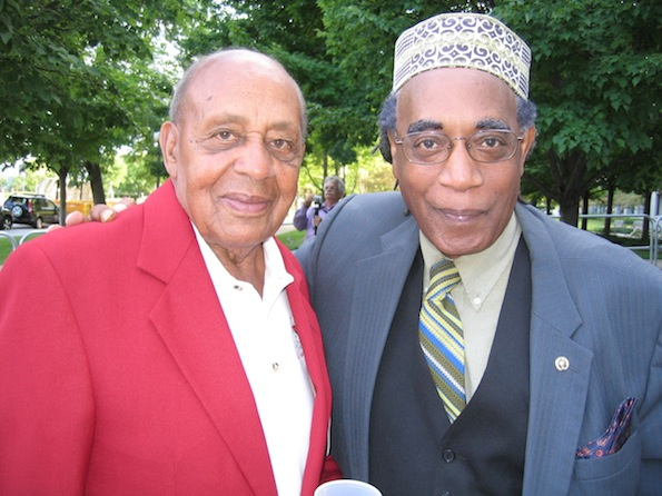 Photo of Larry Pinkney and Dr. Harold Brown