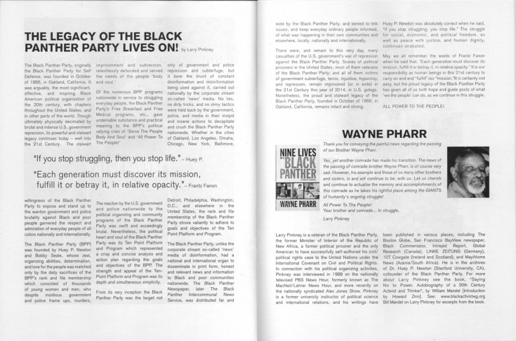 Scanned 2-page article by Larry Pinkney